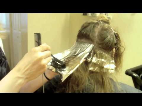 Two Tone Hair Color Blonde On Brown Hair Tutorial YouTube