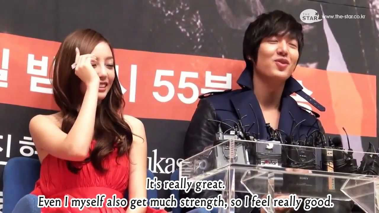Download [Engsub] Goo Hara Interview with Lee Minho - City Hunter Press Conference