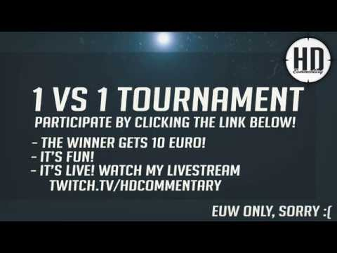(EUW) 1v1 Tournament EVERY Sunday @ 19:30 CET - Win 10 Euro & Join!