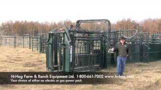 Hi Hog Hydraulic Cattle Squeeze Chute