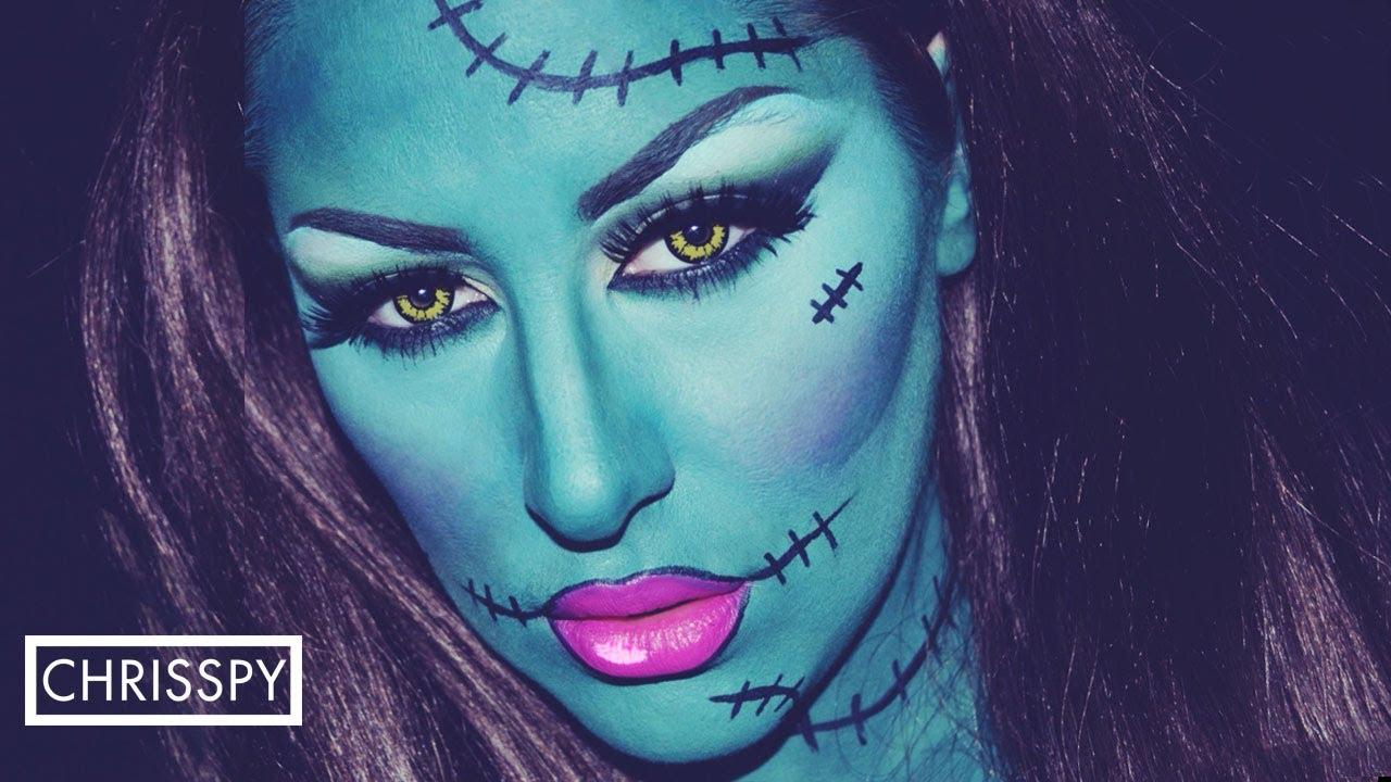 lady frankenstein halloween tutorial youtube - Chrispy Halloween