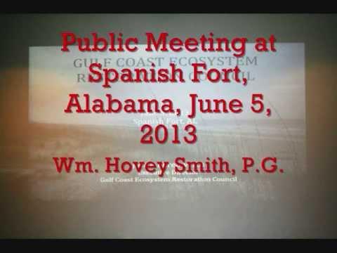 Gulf Coast Ecosystem Restoration Council Meeting at Spanish Fort
