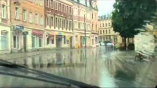 Regenfahrt durch Pirna-Copitz