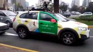 auto de Google Maps Street View - Lima city Free HD Video