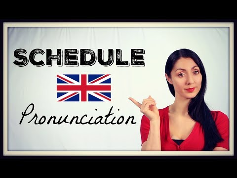 How to Pronounce SCHEDULE / Learn BRITISH ENGLISH PRONUNCAITION