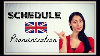 How to Pronounce SCHEDULE Learn BRITISH ENGLISH PRONUNCAITION