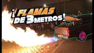 FLAMAS de 3 METROS por el ESCAPE │ManuelRivera11