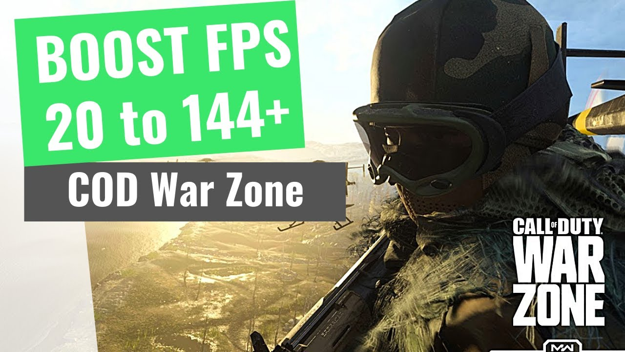 Call Of Duty Warzone How To Boost Fps And Increase Performance Youtube
