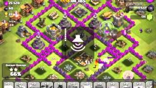 clash of clans 1 of every troop attack with owen.l1212