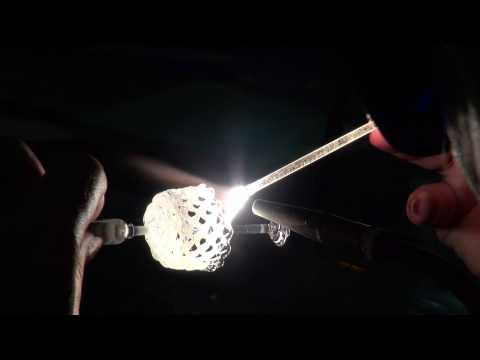 Изготовление колокольчика из горного хрусталя - кварц.