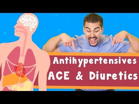 Antihypertensives: volume decreasing: ACE & Diuretics (VOLUME ONLY)