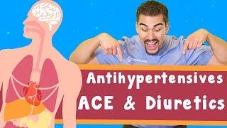 Antihypertensives: volume decreasing: ACE & Diuretics (VOLUME ONLY)