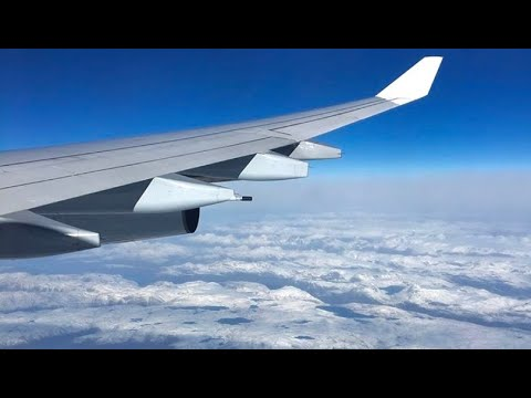 (HD) Lufthansa Airbus A340-300 Window View (Economy) - Frankfurt Airport - Detroit Full Flight