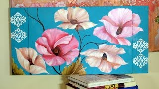 Como pintar Flores al Óleo -Pinceladas -  Silvia Mongelos