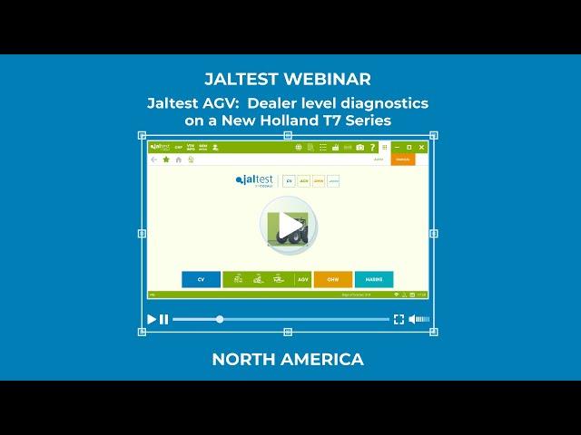 JALTEST WEBINAR | Dealer level diagnostics on a New Holland T7 Series