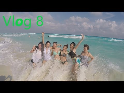 Vlog 8 Cancun Trip (Travel with wife plus friends)