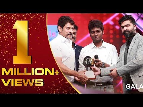 Chiyaan Vikram winning GOLDEN MAN OF TAMIL CINEMA   Galatta Nakshatra Awards