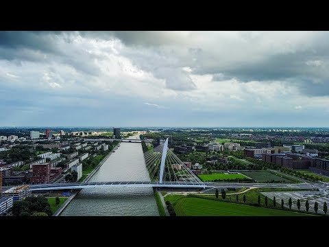 Old and future bridges over the Amsterdam-Rhine Canal in the city of Utrecht
