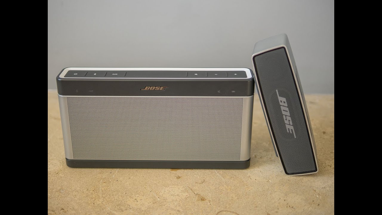 Bose soundlink iii vs soundlink mini audiotest youtube for Housse bose soundlink 3