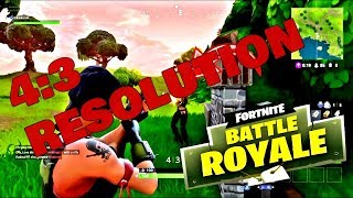 HowTo: Stretch your Resolution 4:3 on Fortnite \u0026 Gain Advantage +FPS Boost