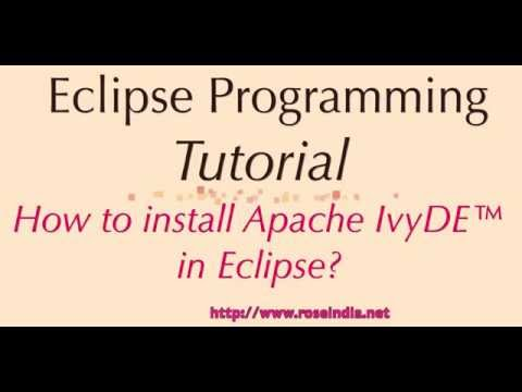How to install Apache IvyDE in Eclipse?
