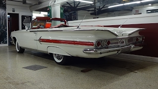 1960 Chevrolet Chevy Impala Convertible in White & 348 Engine Sound My Car Story with Lou Costabile