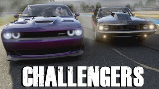 GENERATION BATTLE || 2015 Dodge Challenger VS 1970 Dodge Challenger || Forza 6