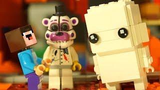 БОРЬКА из BrickHeadz LEGO Minecraft - Лего НУБик Майнкрафт Мультики и ФНАФ FNAF Animation