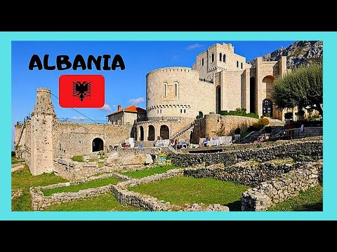 ALBANIA, the historic 5th century AD CASTLE OF KRUJA (Krujë)