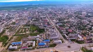 Южно-Сахалинск (Yuzhno Sakhalinsk) с высоты птичьего полета