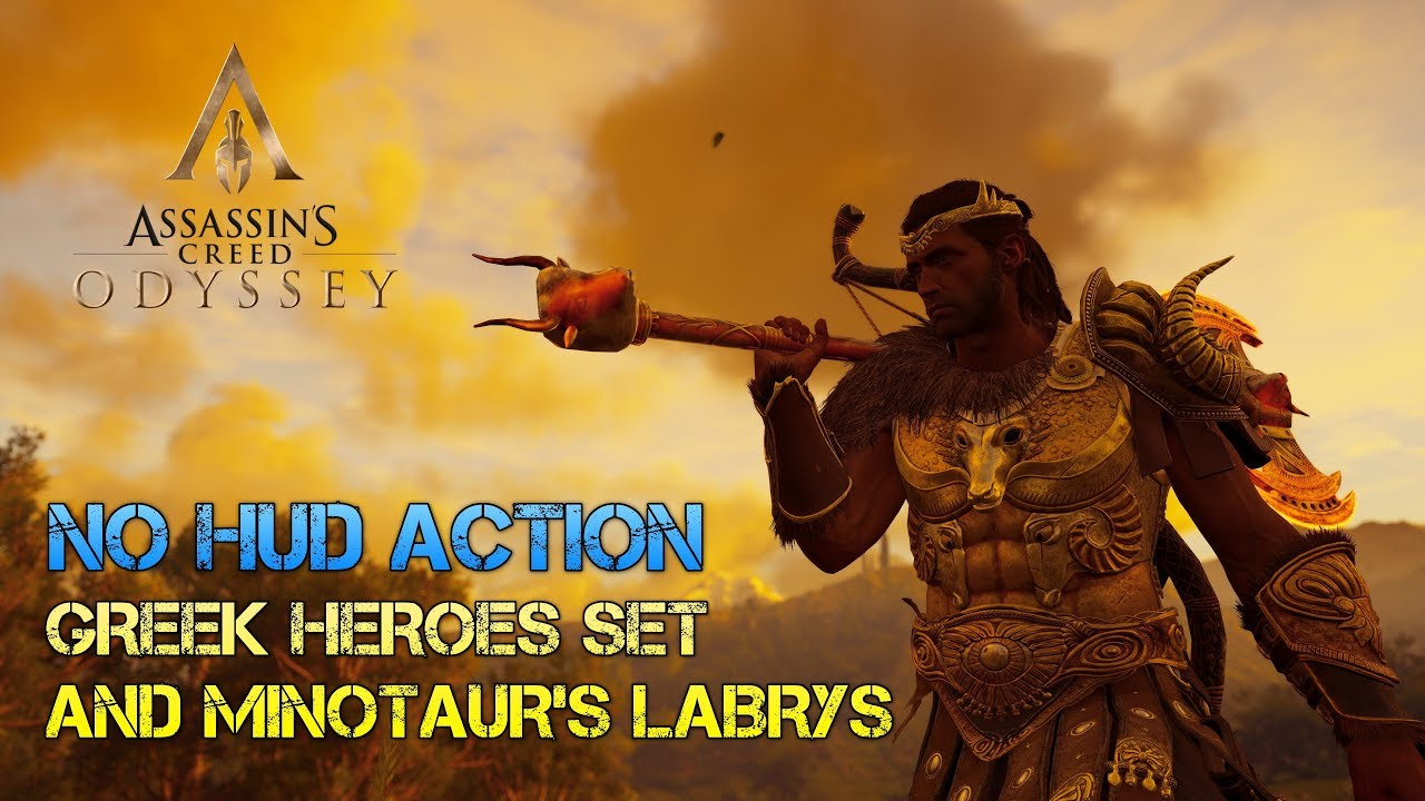 Assassin S Creed Odyssey Minotaur S Labrys Greek Heroes Set