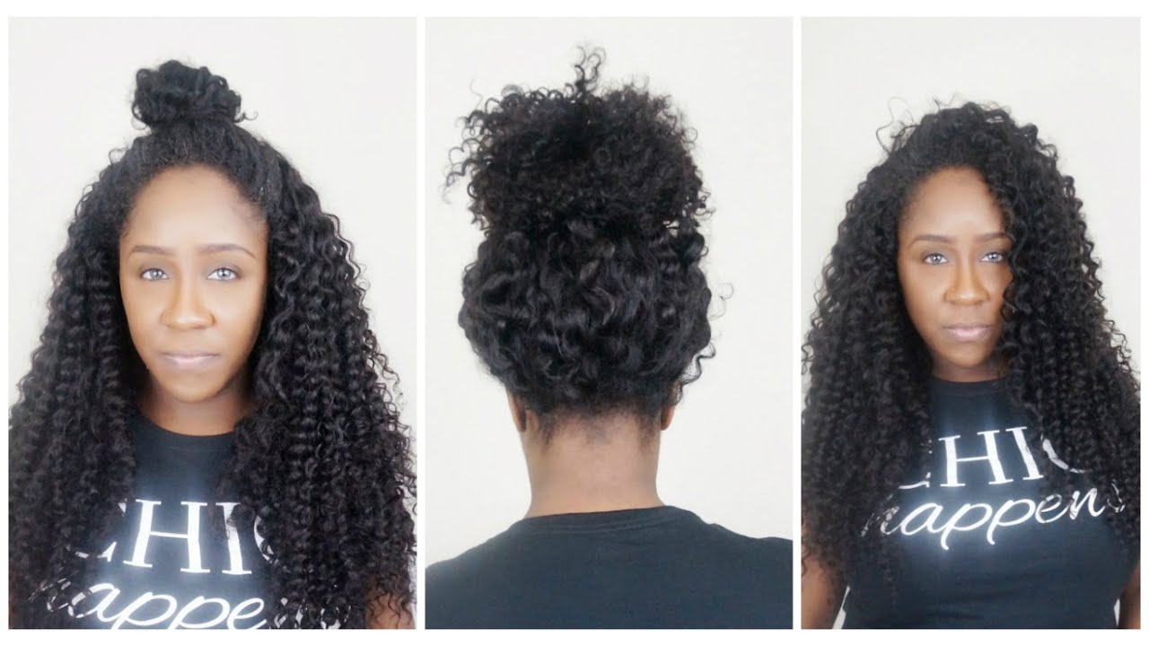 Crochet Hair Vs Sew In : How To Make A Versatile Sew-In Wig You Can Put In Ponytail - YouTube