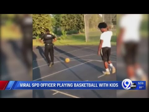 Dan Blackman - Syracuse Police Officer plays 1-on-1 basketball with neighborhood kids