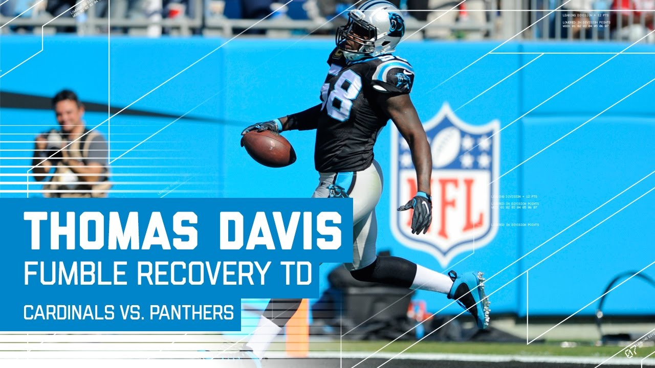 Thomas Davis Returns Carson Palmer s Fumble for a TD