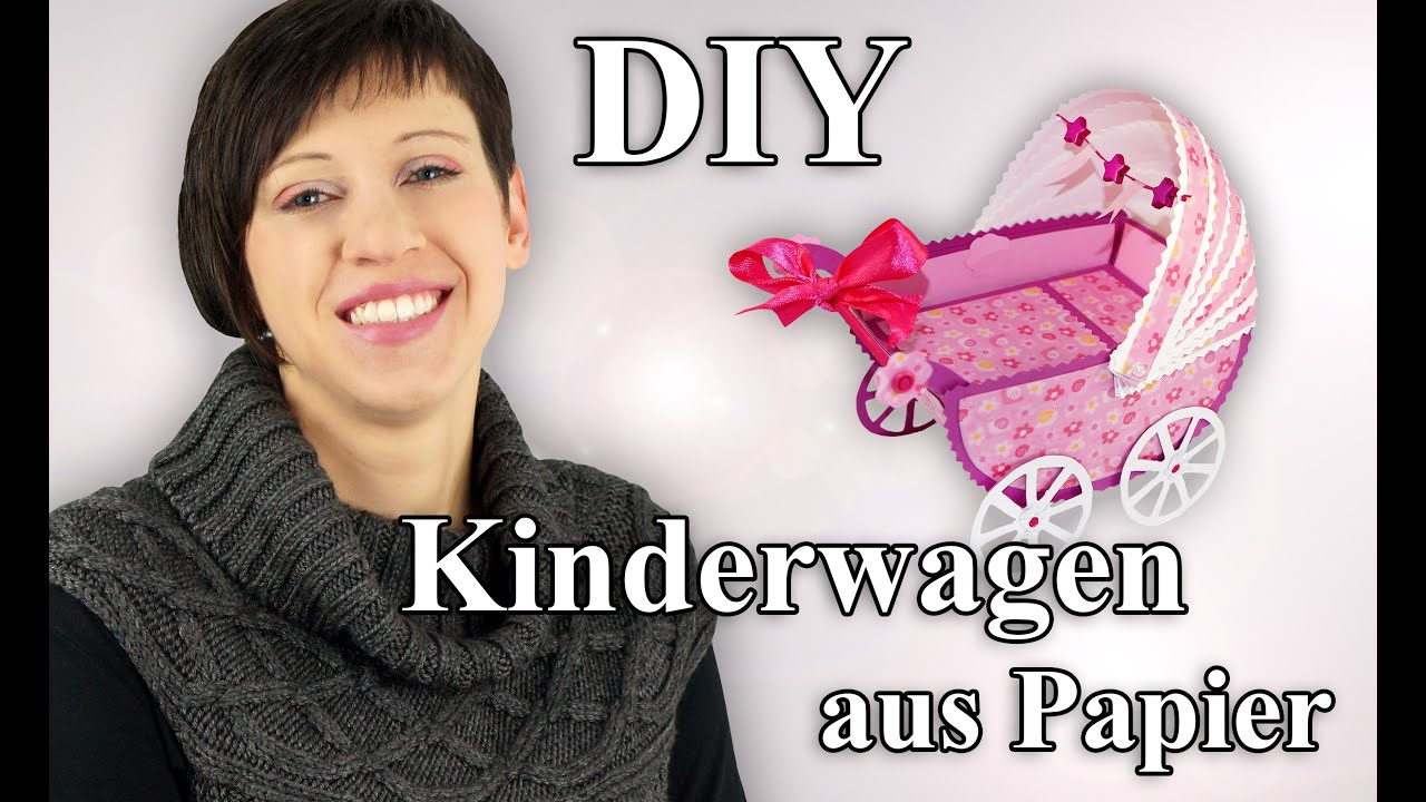 kinderwagen aus papier bastelanleitung youtube. Black Bedroom Furniture Sets. Home Design Ideas