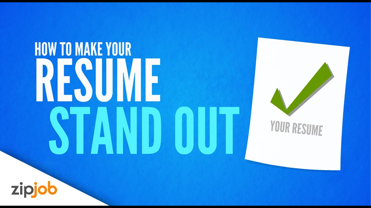 resume How Do You Make Your Resume Stand Out making your resume stand out from the crowd 2017 youtube 2017