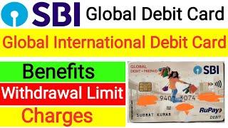 Sbi global debit card | Sbi global international debit card | Global debit + prepaid card sbi