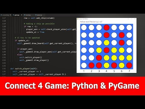 Python and Pygame Game Development Tutorial : Connect 4 thumbnail