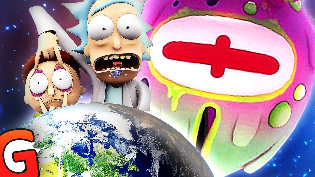 look morty space aliens rick and morty vr funny moments 2