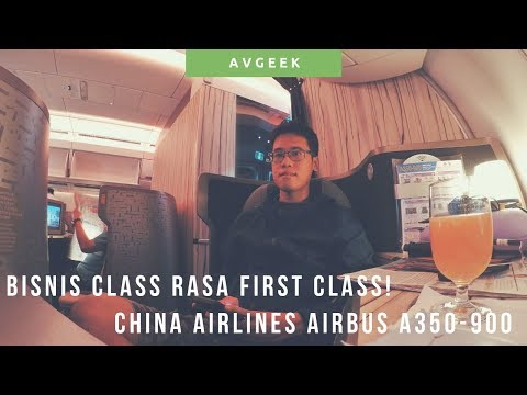 China Airlines Premium Business Class Airbus A350-900 Review Jakarta - Taipei Flight Trip Report