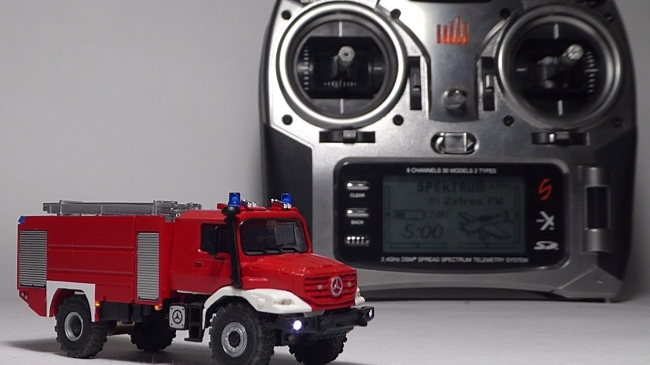 zetros fire truck herpa rc 1 87 spektrum dx8. Black Bedroom Furniture Sets. Home Design Ideas