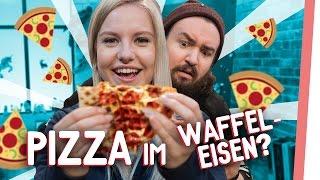 WAFFELEISEN ROULETTE | Kelly & Sturmwaffel machen Pizza im Waffeleisen! | GMI