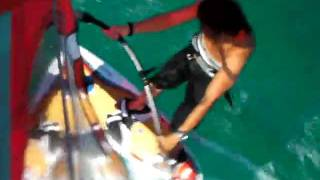 Windsurfing auf Karpathos 2009 mit  Attila Nagy. Starboard Acid wood.Neilpryde Combat 4/7.