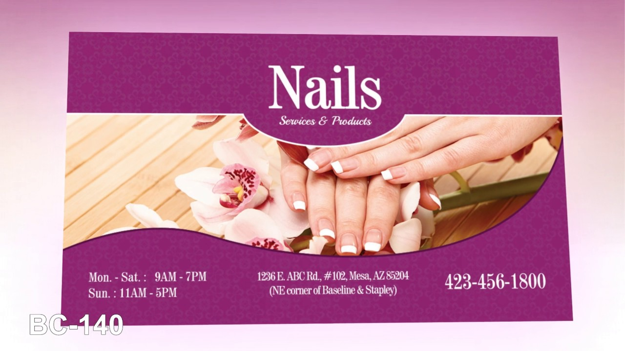 Business card Nails Salon - Vietnamese Salon Printing - YouTube