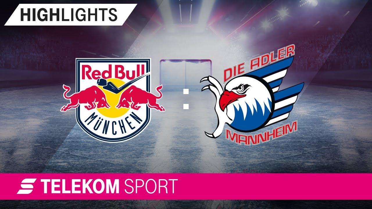EHC Red Bull München - Adler Mannheim | 30. Spieltag, 18/19 | Telekom Sport