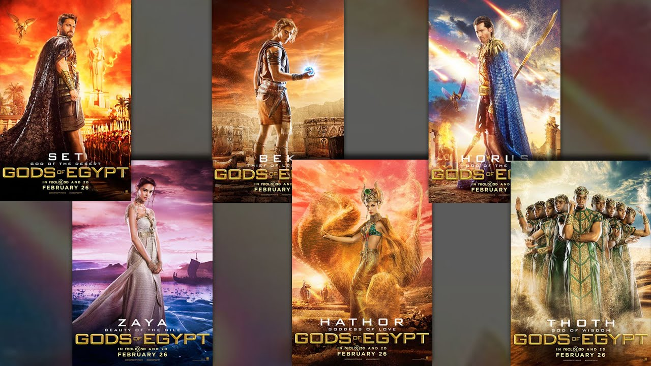New Gods of Egypt character posters debut - Collider