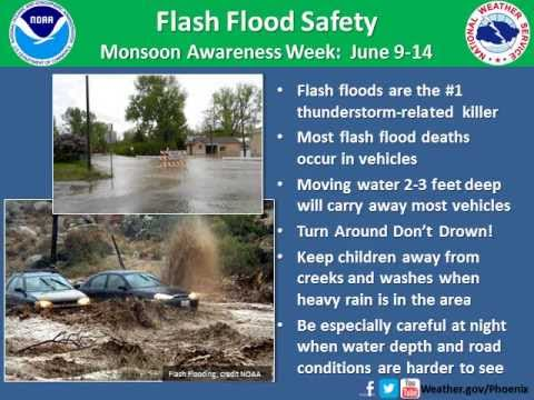 Monsoon Awareness Week: Flash Flood Safety - YouTube