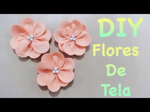 Flores como hacer flores de tela f cil flor elegante - Como hacer cuadros de tela ...