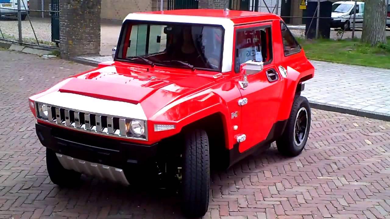 E Car Mini Hummer Den Helder 2 Juli 2013 Youtube
