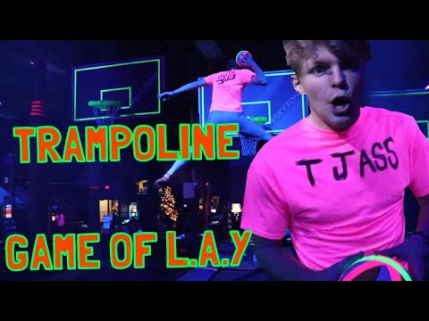 SKY ZONE GAME OF L.A.Y!! TRAMPOLINE BASKETBALL!